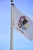 Flagga av Illinois, USA Fotografering för Bildbyråer