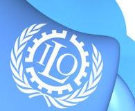 Flagga av ILO stock illustrationer