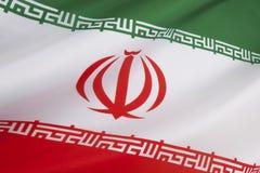 Flagga av Iran Royaltyfria Bilder