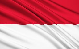 Flagga av Irian Jaya Indonesia - Jayapura, Manokwari arkivfoton