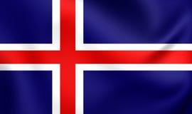 Flagga av Island stock illustrationer