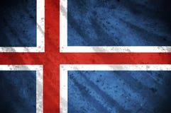 Flagga av Island Arkivfoton