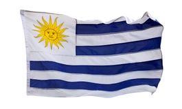 Flagga av isolerade Uruguay - Arkivfoto