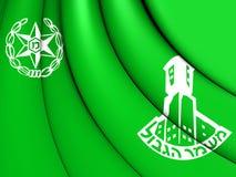 Flagga av Israel Border Police Royaltyfri Fotografi