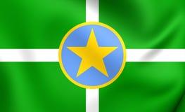 Flagga av Jackson, USA stock illustrationer