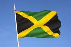 Flagga av Jamaica - det karibiskt Royaltyfria Bilder