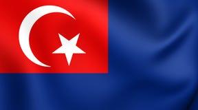Flagga av Johor, Malaysia vektor illustrationer
