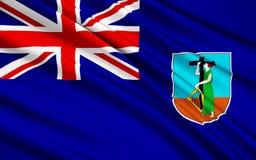 Flagga av Jungfruöarna, Förenade kungariket - vägstad stock illustrationer