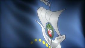 Flagga av Kaliningrad royaltyfri illustrationer