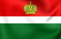 Flagga av Kaluga Oblast, Ryssland vektor illustrationer