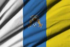 Flagga av kanariefågelöar Royaltyfri Fotografi