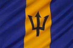 Flagga av karibiska Barbados - Royaltyfri Fotografi