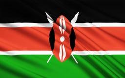 Flagga av Kenya, Nairobi royaltyfri illustrationer