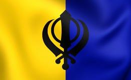 Flagga av Khalistan Royaltyfri Fotografi