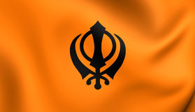 Flagga av Khalistan royaltyfri illustrationer