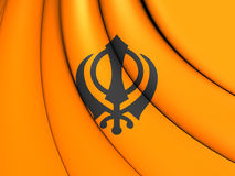 Flagga av Khalistan vektor illustrationer