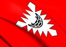 Flagga av Kiel, Tyskland vektor illustrationer
