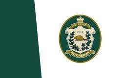 Flagga av Kitchener Ontario, Kanada vektor illustrationer