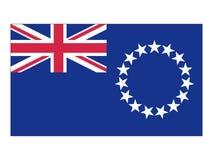 Flagga av kocken Islands stock illustrationer