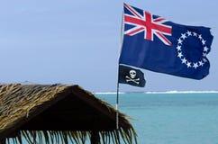 Flagga av kocken Islands Royaltyfri Foto