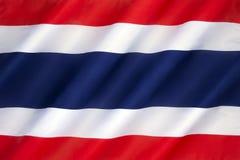 Flagga av Konungariket Thailand Royaltyfri Fotografi