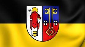 Flagga av Krefeld, Tyskland stock illustrationer