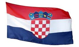 Flagga av Kroatien som isoleras på vit Royaltyfri Bild