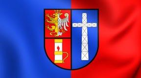 Flagga av Krosno, Polen vektor illustrationer