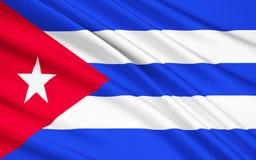 Flagga av Kuban, havannacigarr royaltyfri illustrationer