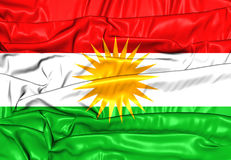 Flagga av kurdistanen royaltyfri illustrationer