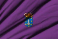 Flagga av La Coruna Fotografering för Bildbyråer