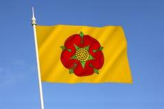 Flagga av Lancashire - Förenade kungariket arkivfoto
