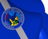 Flagga av Las Vegas, USA royaltyfri illustrationer