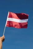 Flagga av Lettland. Arkivfoto