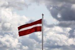 Flagga av Lettlandet Arkivbild
