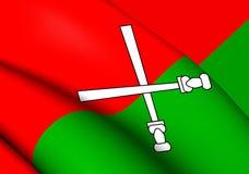Flagga av Li och Miao stock illustrationer