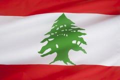 Flagga av Libanon Royaltyfria Foton