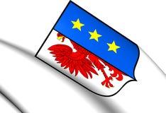 Flagga av Lipiany, Polen stock illustrationer