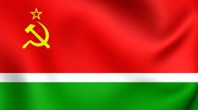 Flagga av litauisk SSR vektor illustrationer