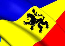 Flagga av Lo Prado, Chile royaltyfri illustrationer