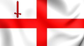 Flagga av London vektor illustrationer