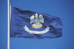 Flagga av Louisiana Arkivbilder