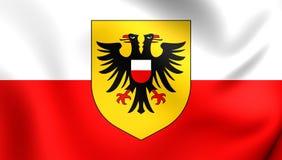 Flagga av Lubeck, Tyskland stock illustrationer