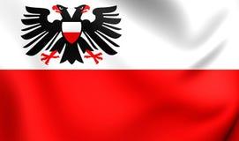 Flagga av Lubeck, Tyskland vektor illustrationer