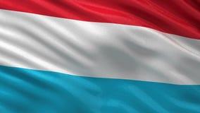 Flagga av Luxembourg - sömlös ögla stock illustrationer
