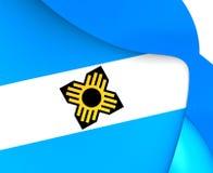 Flagga av Madison, USA vektor illustrationer