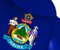 Flagga av Maine, USA stock illustrationer