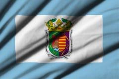 Flagga av Malaga Royaltyfria Bilder