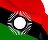 Flagga av Malawi 2010-2012 stock illustrationer