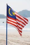 Flagga av Malaysia arkivbild